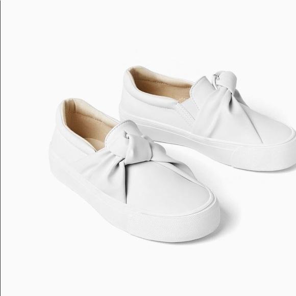 Zara Shoes   Zara Girls White Knot